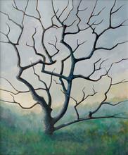 Une peinture d'un arbre