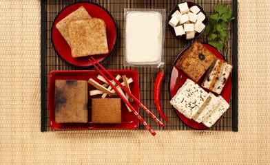 verschiedene Tofuprodukte