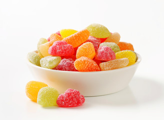 Gummy fruit candy
