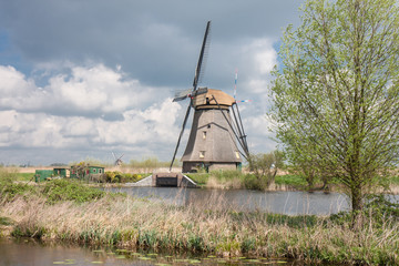 Old historic windmill in the Netherlands