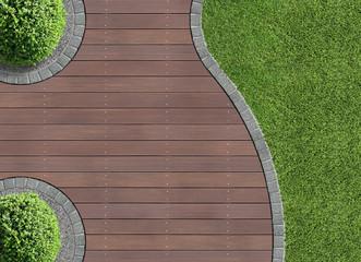 Gartendetail von oben
