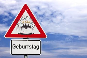 Schild Geburtstag © Matthias Buehner