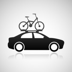 Car and bicycle icon