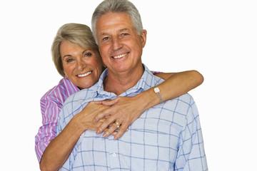 senior couple together, portrait, cut out