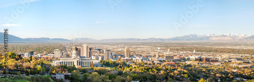 Salt Lake City panoramic overview - 69331196