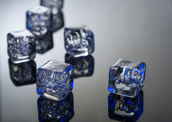 Reflective ice crystals