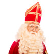 Sinterklaas portratit on white background