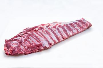 Pork rib meat product photo