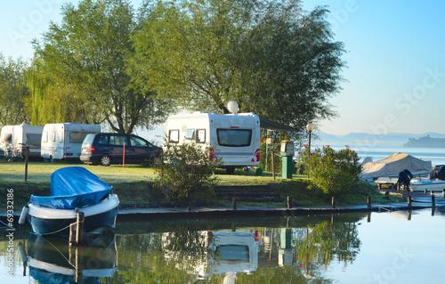 Plexiglas Meer Camping in Europe