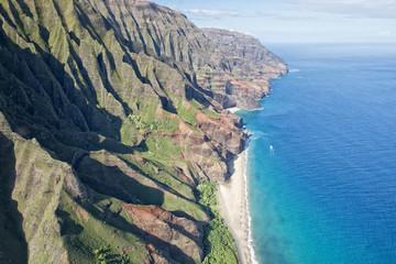 kauai napali coast aerial view
