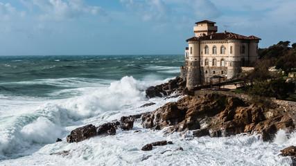 Castello del Boccale in a windy day in Livorno