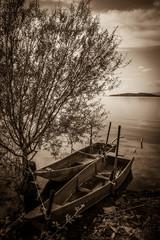 Barche al lago Trasimeno