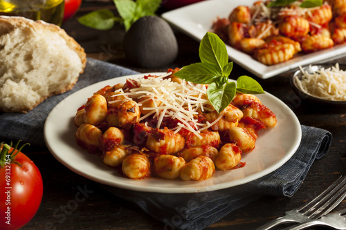 Homemade Italian Gnocchi with Red Sauce - 69332754