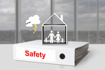 office binder safety family home