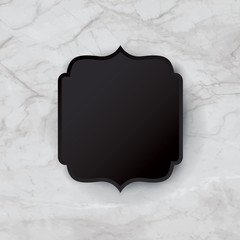 White marble background vector.