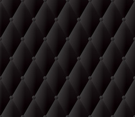Black upholstery vector abstract background.
