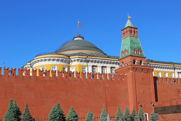 Senate Palace and the Senate tower in the Moscow Kremlin