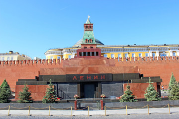 Lenin mausoleum on Red Square in Moscow