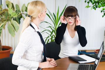 Confident businesswoman work in office