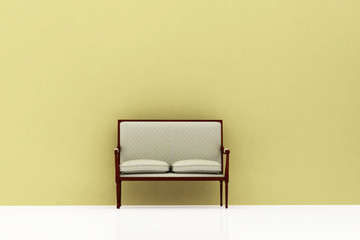 sofa seat wait room green