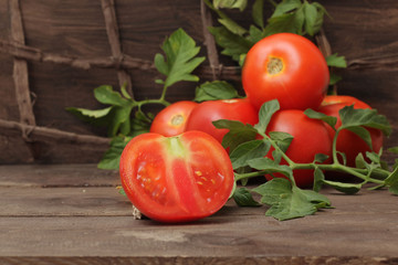 tomatoes  in autumn season still life
