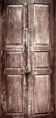 Full old Chinese style door with vignette