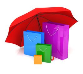 Shopping Bag and Umbrella