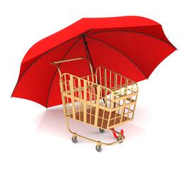 Shopping Cart and Umbrella