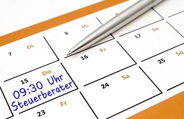 Steuerberater - Termin im Kalender
