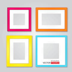 Set Of Colorful Picture Frames