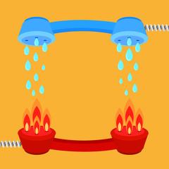 extinguish fire backgrund vector