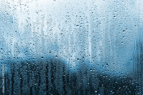 rain on glass - 69338510