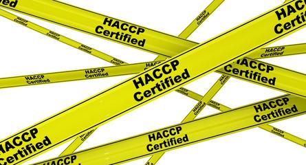 Сертифицировано HACCP. Желтая оградительная лента