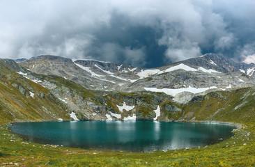Amazing view of Aynali lake in national park Uludag