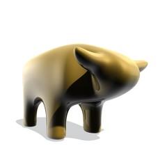 Gouden stier beeld