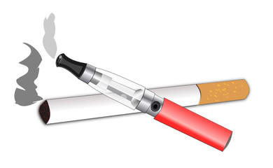 Cigarette électronique et à tabac