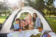 Multi-Generation Family Enjoying Camping Trip