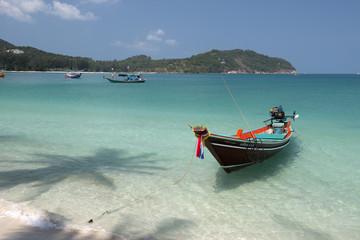 Long tail Boat at Chaloklum Bay