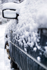 Car during icing