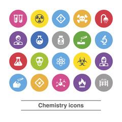 Chemistry icons set.