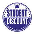 Student discount stamp