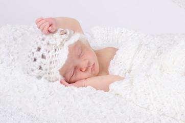Erschöpftes Neugeborenes