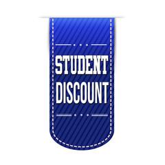 Student discount banner design