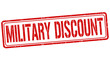 Military discount stamp