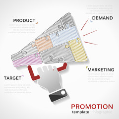 Promotions hand draw illustration