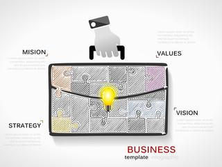 Business hand draw illustration