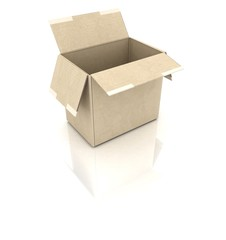 concept Cardboard boxes