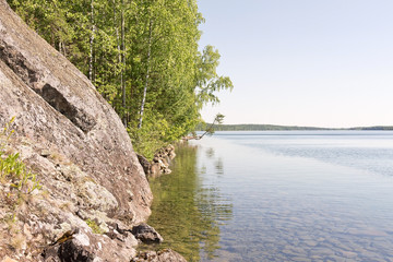 rocky lakeside