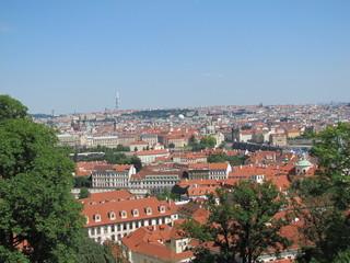 Вид на город Прага.