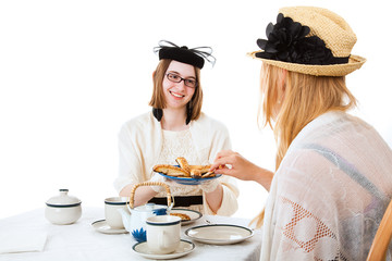 Teen Girls Have Tea